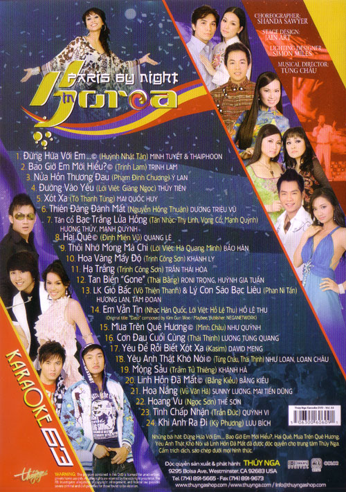 Paris By Night Karaoke 63 - In Korea - DVD9